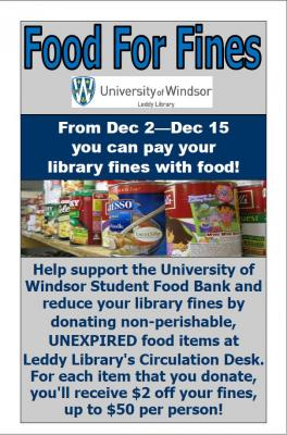 Food for fines poster
