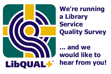 We're running a library service quality survey and we would like to hear from you!