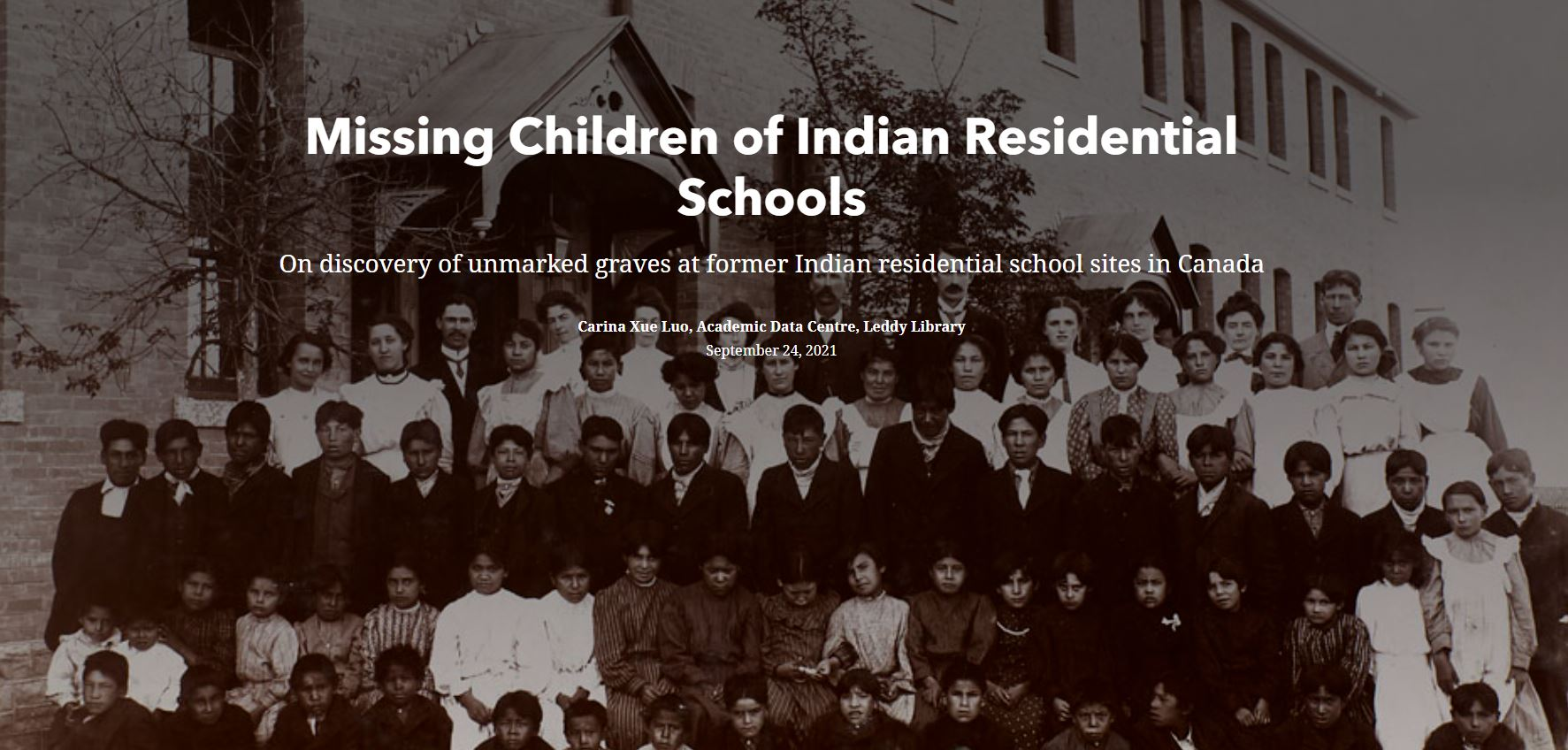Photo of Missing Children of Indian Residential Schools app