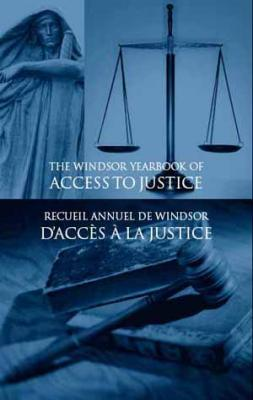 Windsor Yearbook of Access to Justice journal cover with scales of justice.