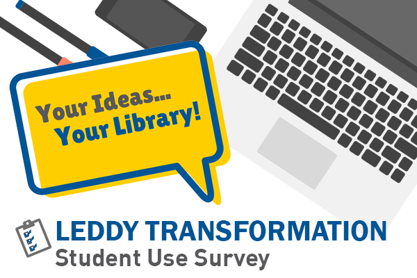 Leddy Transformation student use survey graphic