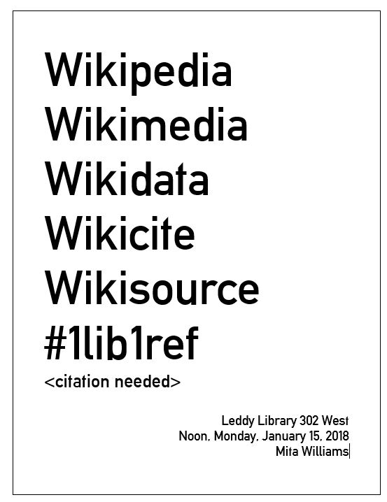 Wikipedia event poster