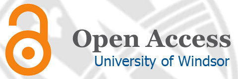 Open Access Logo of an open lock over a background of the University of Windsor logo