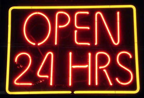 photo of 24 hours sign by mag3737