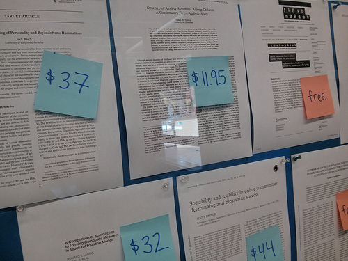 papers with price tags