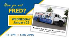 Image of the Freedom to read, educate and discover (FRED) bookmobile.