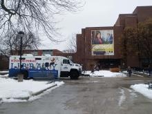 FRED Bookmobile at the Leddy Library